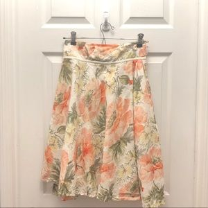 Anthropologie Eyelet Swirl Skirt